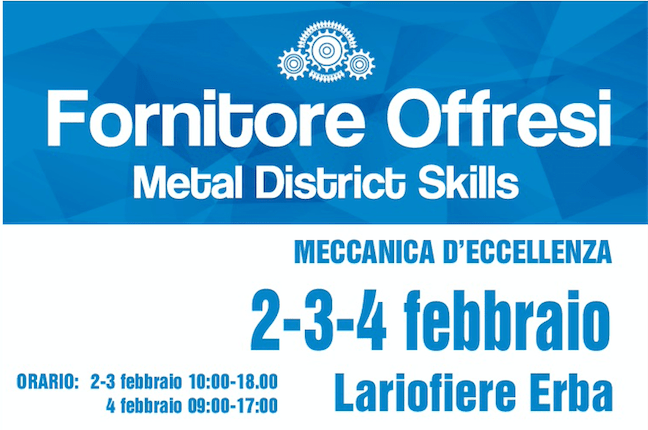 "X-TURN will be at ""Fornitore Offresi"" trade show 2-4 Feb. 2017"